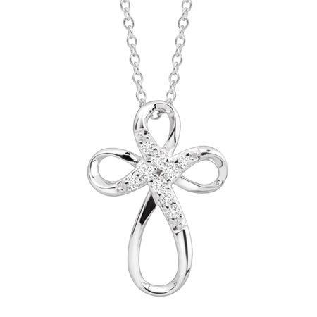Infinity Cross Pendant with Cubic Zirconia