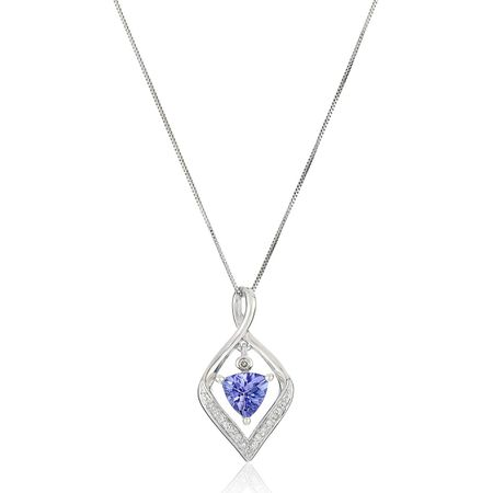 Tanzanite Floater Pendant with Diamond