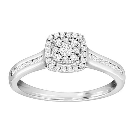 1/3 ct Diamond Cushion Engagement Ring
