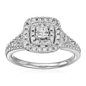 3/4 ct Diamond Halo Frame Engagement Ring