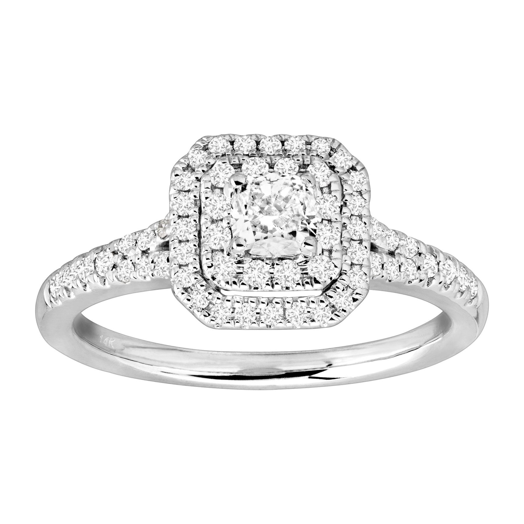 75843f7fa6d 5/8 ct Diamond Engagement Ring in Rhodium-Plated 14K White Gold | 5 ...
