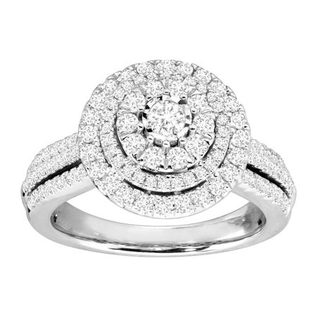 1 ct Diamond Concentric Halo Engagement Ring