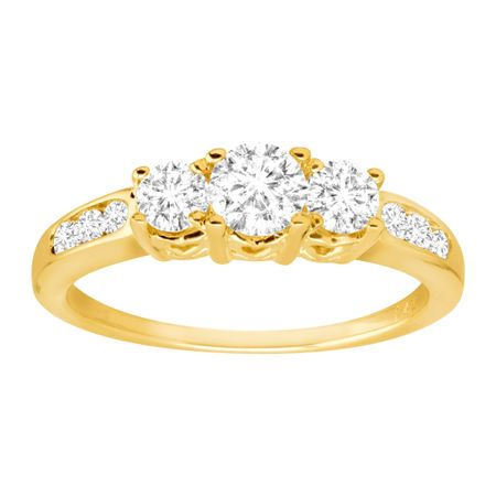 1 ct Diamond Three-Stone Anniversary Band Ring