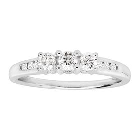 1/2 ct Diamond Trio Anniversary Ring