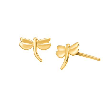 Teeny Tiny Dragonfly Stud Earrings
