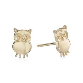 Teeny Tiny Owl Stud Earrings