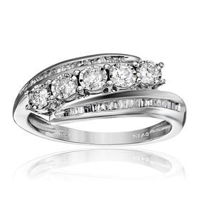1/2 ct Diamond Bypass Anniversary Ring