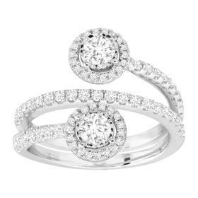1 ct Diamond Wraparound Anniversary Ring
