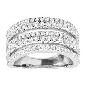 1 ct Diamond Multi-Band Anniversary Ring
