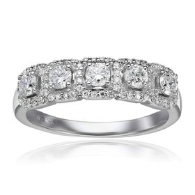 3/4 ct Diamond Five-Face Anniversary Ring