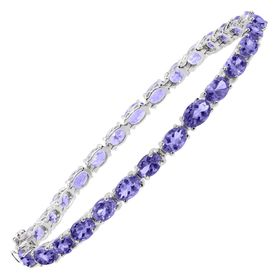 13 ct Tanzanite Tennis Bracelet