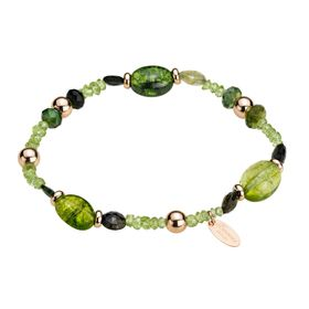 Green Quartz Bead Bracelet