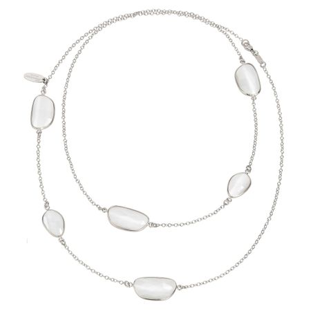 Milky Quartz Station Necklace