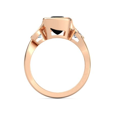 Cushion-Cut Hurricane Ring with Round-Cut Accents