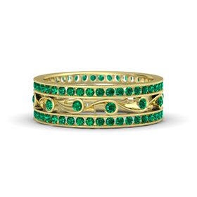 14K Yellow Gold Ring with Emerald