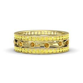 18K Yellow Gold Ring with Citrine and Yellow Sapphire
