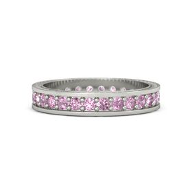 Platinum Ring with Pink Tourmaline and Pink Sapphire