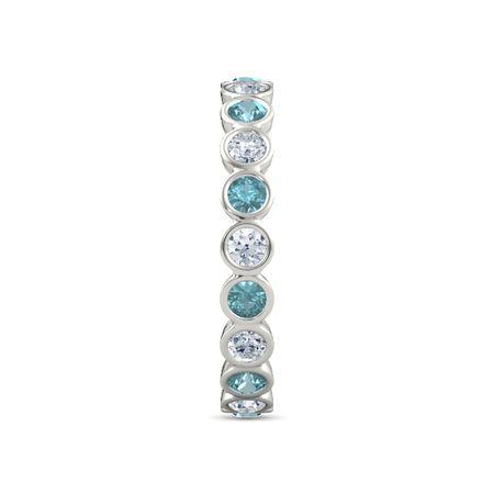 Platinum Ring With London Blue Topaz Amp Diamond Pod