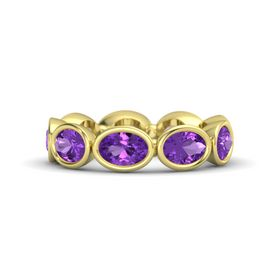 Oval Amethyst 14K Yellow Gold Ring with Amethyst