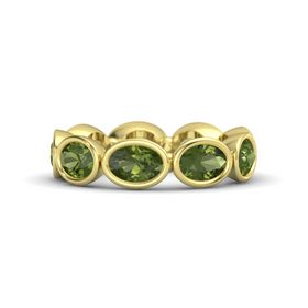 Oval Green Tourmaline 14K Yellow Gold Ring with Green Tourmaline