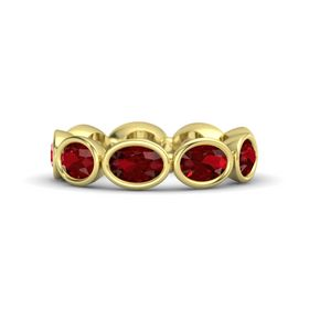 Oval Ruby 14K Yellow Gold Ring with Ruby