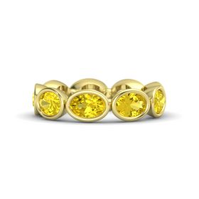 Oval Yellow Sapphire 14K Yellow Gold Ring with Yellow Sapphire
