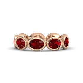 Oval Ruby 18K Rose Gold Ring with Ruby
