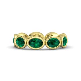 Oval Emerald 18K Yellow Gold Ring with Emerald