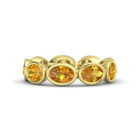 Oval Citrine 18K Yellow Gold Ring with Citrine
