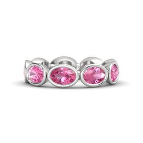 Oval Pink Tourmaline Sterling Silver Ring with Pink Tourmaline