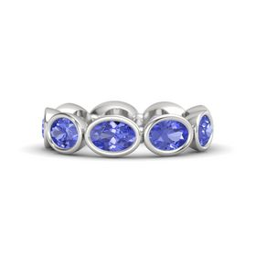 Oval Tanzanite Sterling Silver Ring with Tanzanite
