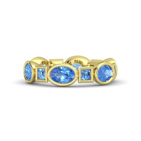 14K Yellow Gold Ring with Blue Topaz