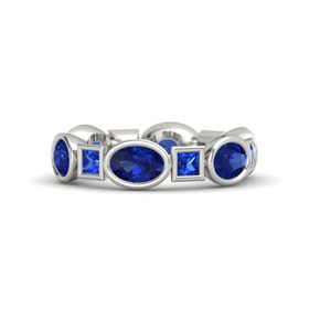 Platinum Ring with Blue Sapphire