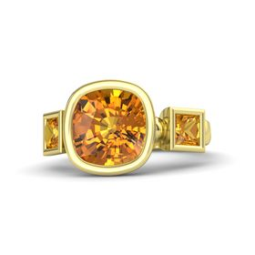 Cushion Citrine 14K Yellow Gold Ring with Citrine