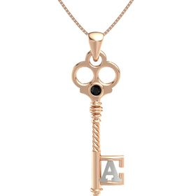 14K Rose Gold Necklace with Black Onyx
