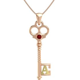 14K Rose Gold Pendant with Ruby