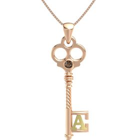 14K Rose Gold Necklace with Smoky Quartz