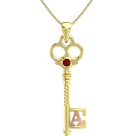 14K Yellow Gold Pendant with Ruby
