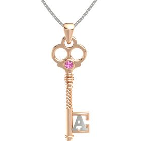 18K Rose Gold Pendant with Pink Tourmaline