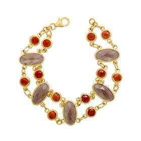 11 ct Smoky Quartz & Garnet Bracelet