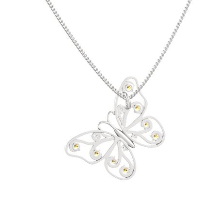 Brilliant Butterfly Pendant