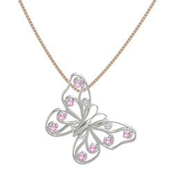Platinum Necklace with Diamond & Pink Tourmaline