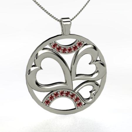 Heart Filled Circle Pendant