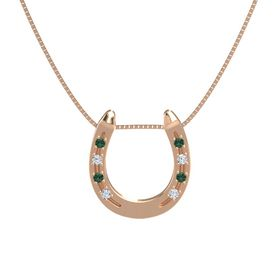 14K Rose Gold Pendant with Alexandrite and Diamond