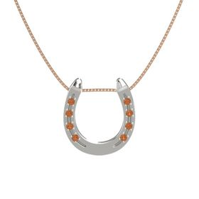 Platinum Necklace with Fire Opal