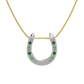 Platinum Pendant with Alexandrite and Emerald