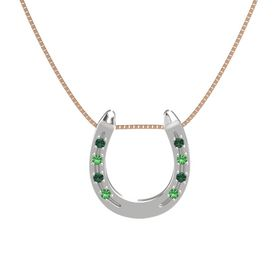 Sterling Silver Pendant with Alexandrite and Emerald