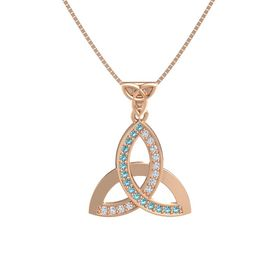 Triqueta Pendant with Gems