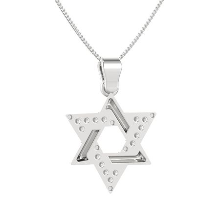 Star of David Pendant with Gems