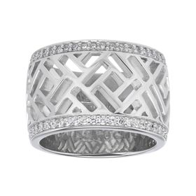Openwork Ring with Cubic Zirconia